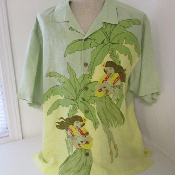 a416feba Tommy Bahama Linen Hawaiian Hula Girl Shirt XL. M_5b201b9c0cb5aa8a7bd98b0e